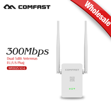 WIFI Router Repeater wireless 300mbps wi if Network Adapter Dual 5dBi Antenna Signal Booster wholesale 6PCS COMFAST CF-WR302S-V2(China)