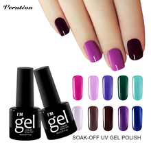 Verntion 29 Color Uv Gel Nail Polish 8 Ml Professional Lucky Nail Gel Soak Off Semi Permanent Colors Gel UV Lacquer(China)
