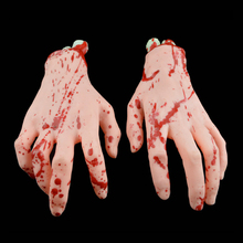 Halloween Broken Finger Hand Blood Horror Decoration Severed Bloody Limbs Hand Novelty Dead Broken Hands Gadgets 1Pc(China)