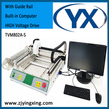 Pick and place machine TVM802A-S Led Manufacturing Machine Used SMT Machine with Guide Rail Built-in Compter