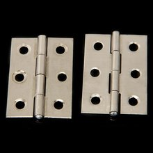 5x 2pcs Stainless Steel 2 Inch 4.4x3.1cm Cabinet Door Hinges Hardware Best Selling(China)
