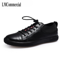 shoes men The European men's leather shoes men station and trend of Korean Men's Casual boots wholesale low lace(China)