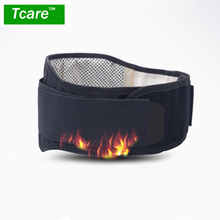 * Tcare Adjustable Tourmaline Self heating Magnetic Therapy Waist Support Belt Lumbar Back Waist Brace Double Band Health Care(China)