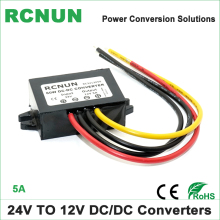 FREE Shipping 24 Volt to 12 Volt Step Down DC DC Converter 24V-12V 5A 60W Car Power Supply 24V to 12V(China)