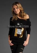 Wildfox Love Potion NO '9 perfume bottles bead piece  black white sweater knit shirt Free shipping New Hot Sale