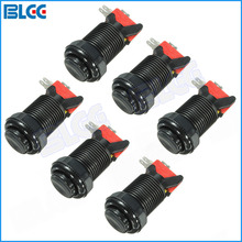 6pcs / Lot Push Arcade Buttons Long Switch Button with Microswitch for Coin Operated Arcade Games(China)