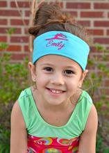 Personalized Gymnast Monogram Embroidered Headbands birthday New Year Christmas party gifts kids custom headwear