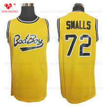 Wholesale Cheap Throwback Basketball Jersey #72 Biggie Smalls Jersey Notorious B.I.G. Stitched Bad Boy Basketball jersey