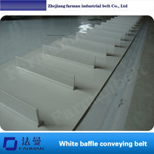 PVC PU conveyor belt with profile, attachment, cleat, holes, bar,skirt