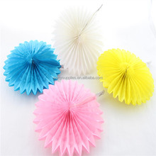 50pcs 16inch Mixed Color Honeycomb Flower Fans Paper  Foldable Tissue fans Craft idea Cute Party