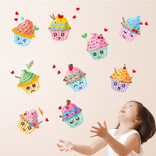 Brand 2017 Wall Stickers Fruit Cake Ice Cream DIY Wall Sticker Decal Kitchen Closet Living Room Cabinet Refrigerator Mural