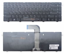High Quality Notebook Keyboard for Dell Inspiron 3420 3520 14R N4110 XPS L502x US Layout Black Color Free Shipping