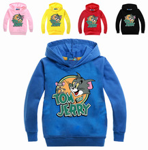 Z&Y 3-16Years Tom and Jerry Sweatshirt Teenagers Boys Hoodies Infant Girls Pullover Coat Guangzhou Clothing Sudaderas Ninos 1794(China)