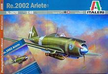Out of print! Italeri WWII Italian Re.2002 Ariete fighter bomber aircraft Model Kit 1/48