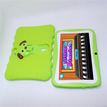 Quad Core 7 inch A33 512MB/4GB Kids Tablet PC 1024*600 WIFI Android 4.4 Dual Camera gift with gift usb Led big speaker