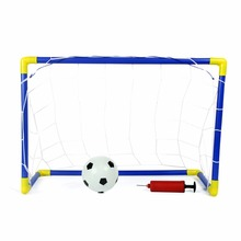 Surwish Children Outdoor/Indoor Games Soccer Goals with Ball and Pump Football Goal Toy Set Practice Scrimmage Game for Kids(China)