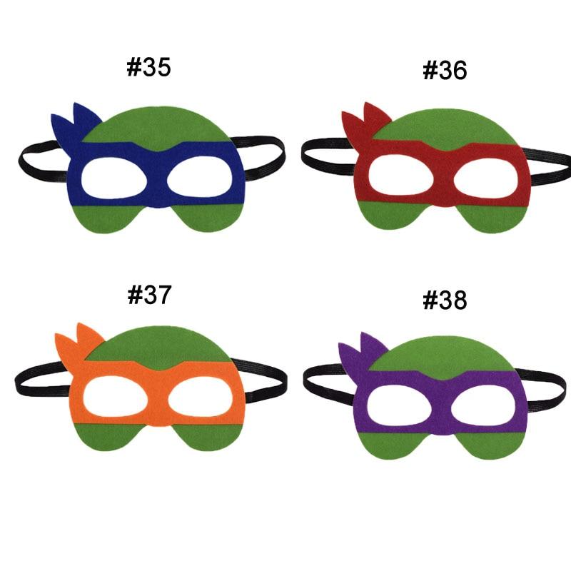 1pc Ninja Turtles Mask Hulk Batman Superhero Cosplay Superman The Avengers Kid Birthday Gift Cosplay Masquerade Party Masks