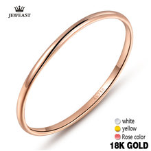 18k Gold Women Rings Beautiful Exquisite Smooth Classic Real 750 Solid Rose Yellow Girl Gift Party Discount Good Nice new hot(China)