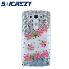 New 2017 Hot sale crystal kitty cell phone case mobile phone case cover For LG K7/K10/K8/L90/G2 mini G3 G3S G4 G4C G5 G6 X power(China)