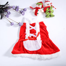 Pet Puppy Dog Christmas Clothes Santa Claus Costume Outwear Coat Apparel New Hoodie