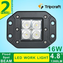 Factory Direct Selling 4inch 4leds*4W 16W LED Work Light for Offroad IP67 12V 24V HeadLamp Truck Tractor SUV ATV 4WD LED running