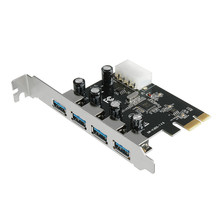 New Arrival 4-Port USB 3.0 To PCI-E Card Express Expansion Card Adapter VIA 5Gbps 6311B13 Mosunx
