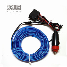 Hot Sale Car Styling Neon Light Flexible Blue EL Cold Line Wire 1/2/3/5M Car Decorative Lights with 12V Cigarette lighter Drive