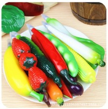 South Korea stationery realistic creative cartoon fruit Vegetables ball-point pen lovely pen with magnet