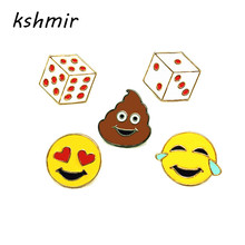 kshmir Original dice Big poop bag decoration Bad taste drip brooch Collar pin badges act the role ofing is tasted