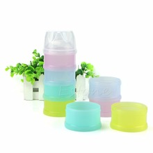 1Pc Portable 4 Layers Infant Baby Milk Powder Box Food Storage Container Travel(China)