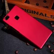 New Multi Colors Luxury Rubberized Matte Plastic Hard Case Cover For Huawei P9 lite G9 Lite 5.2 inch Cell Phone Cover Cases