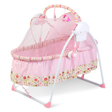 100cm lenght baby crib shaker electric baby cradle intelligent swing bouncer automatic folding baby bed newborn rocking chair(China)