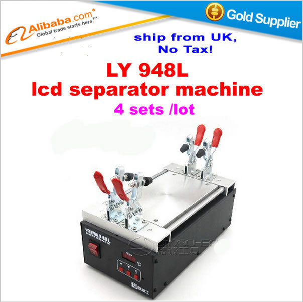 Shipping from UK,no tax!! 4 pcs/lot LCD screen split machine 948L LCD separator for Iphone Samsung HTC LCD refurbishment<br><br>Aliexpress
