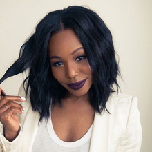 Top Glueless Lace Front Wigs Heat Resistant Long Wavy Bob Synthetic Wig For Black Women Cheap