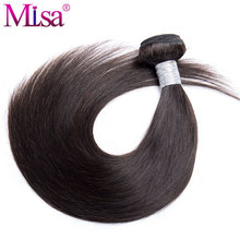 Mi Lisa Peruvian Straight Hair Weave Extensions 1 Piece Human Hair Bundles Remy Hair 10-28 inches Can Buy Many Mixed Bundles(China)