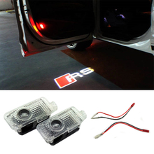 2 x LED Ghost Shadow Projector Laser Lamp Welcome Warning Courtesy Logo Light for Audi A6 A1 A3 A4 C5 80 A7 Q3 Q5 Q7 TT RS R8