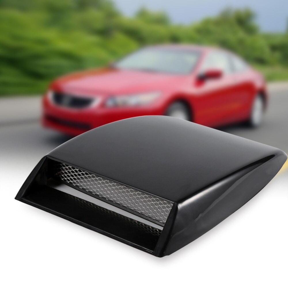 Qiilu Air Flow Trim Car Side Air Flow Grille Intake Trim for Universal Car Vehicle Sticker Decorative Carbon Fiber
