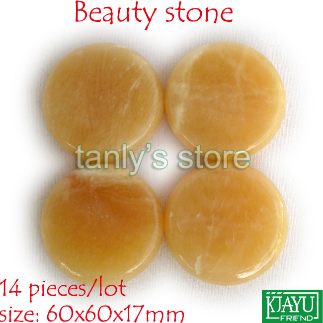 Hot Stone Therapy Power Stone Rock stone massage body stone/gong jade 60x60x17mm 14pcs/lot(China)
