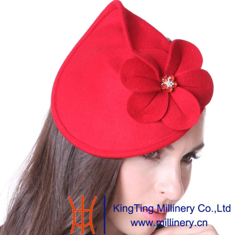 Junes Young Cocktail Party Fascinator Hats For  Women Wedding Headwear With Headband Red Fashion Lady Hot Sale Accessories Hats<br><br>Aliexpress