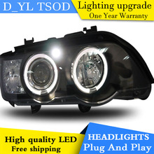 D_YL Car Styling for BMW X5 Headlights 1998-2003 X5 LED Headlight DRL Lens Double Beam H7 HID Xenon bi xenon lens