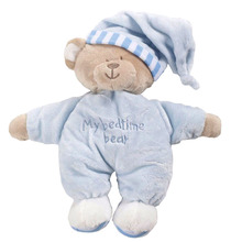 My First 1st Teddy Fluffy Plush Blue Pink Soft Appease Toy Comforter Bear Dolls High Quality  Bedtime Gift