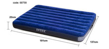High quality 2016 Hot sales INTEX  double size air mattress 68758 inflatable bed,camping mattress 137*191*22cm