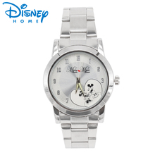 Disney Genuine Women Watches Luxury Stainless Steel Quartz Watch Fashion Brand Mickey Mouse Ladies Watches