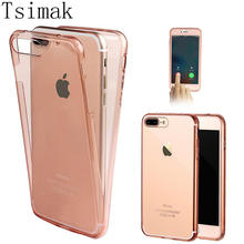 Ultra Thin Smart Touch Screen Case For iphone 7 Case For iphone7 6 6S Plus Phone Cases Full Body Cover Clear Crystal Soft Newest