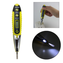 Digital Electrical Multi-sensor 12-250V AC DC Measure Voltage Detector Test Pen With Light function(China)