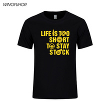 LIFE IS TOO SHORT TOO STAY STOCK Funny T Shirt Boost Turbo Race T Shirt Camisetas Printed Cotton Tops Short Sleeve Tee(China)