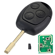 4D60 Remote Car Key Shell Case 433MHz Chip Car Key Case Replacement for FORD Focus Fiesta Mondeo C-MAX Fusion Transit KA D25(China)