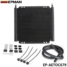 EPMAN Racing Car Aluminum Performance 24 Row Series 8000 Plate & Fin Transmission Cooler Kit EP-AETOC679(China)
