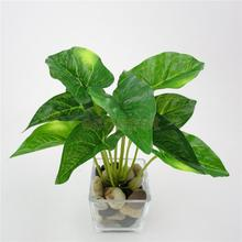 Taro Leaves Artificial Grass Leaf Greenery Foliage Plant Home Decor Green #4
