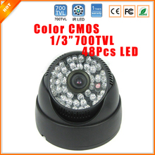 "Promotional Product 1/4"" CMOS 700TVL Infrared Night Vision Indoor Dome Security Camera CCTV(China)"